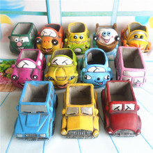 Accept low MOQ Car shaped cartoon cement garden flower pot