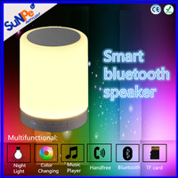 Portable Wireless mini bluetooth speaker with led color changing light and TF card ,handsfree