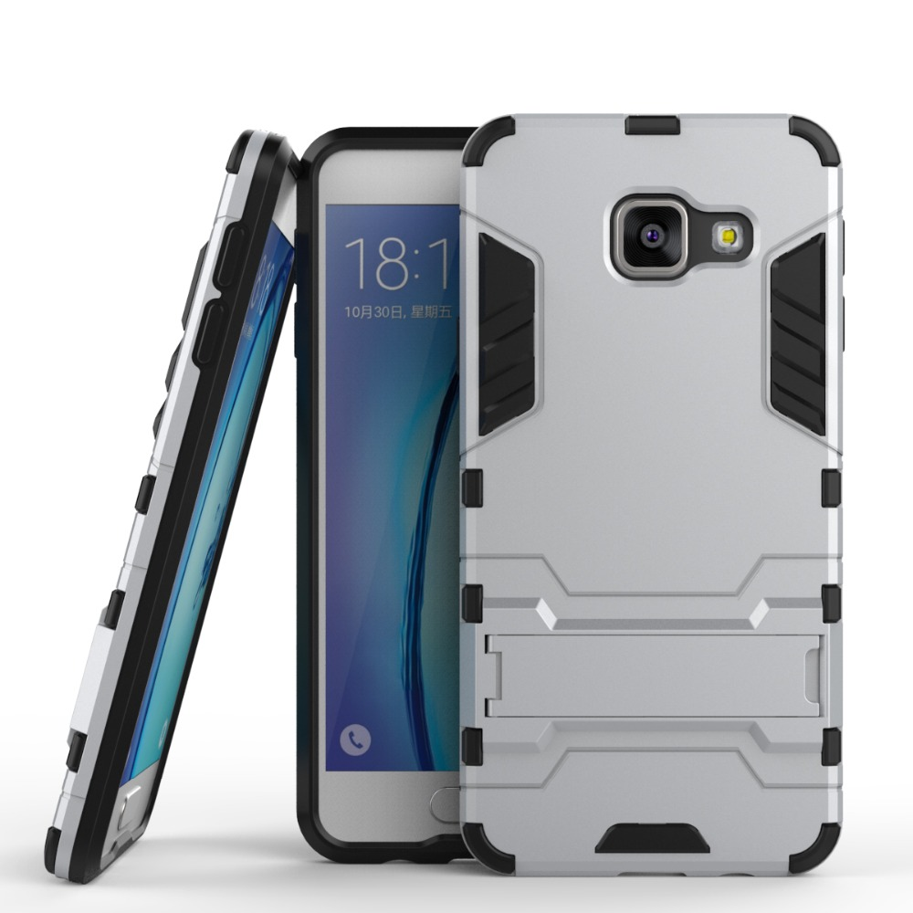 China Factory Iron Man Hard Armor Hybrid Stand Holder Shockproof Case For SamsungGalaxy A3 2016 A310