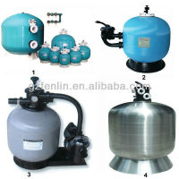 Factory price of fibreglass and stainless steel 304 pool tank sand filter