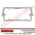 "OEM 6*12"" Ballet Girl Chrome Zinc License Plate Frame"