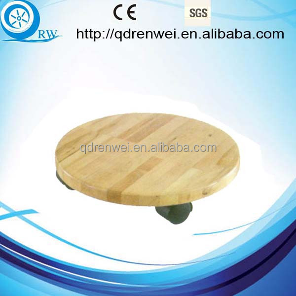 round moving wood Dolly ,plant dolly