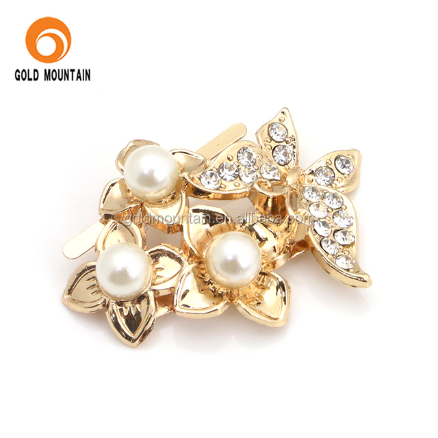 Butterfly diamond strass shoe decoration jewelry shoe buckle accessories for women shoe