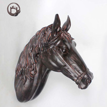 Mall mount animal metal cast bronze horse statue home decorating piece crafts sculpture