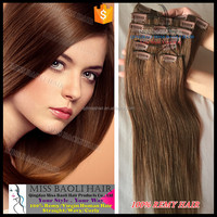 2016 Best Selling Remy Hair Extensions Wholesale Factory Price clip in color hair extensions
