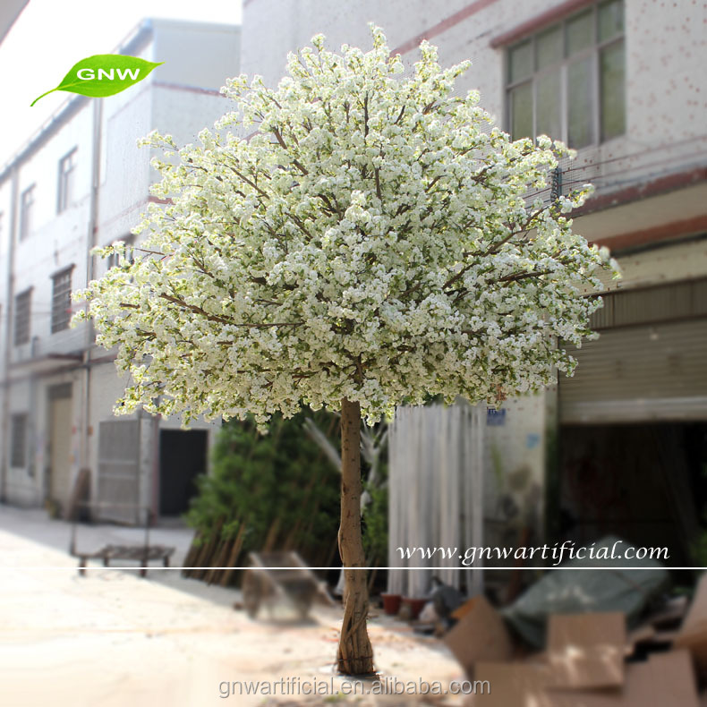 GNW BLS043 Tall Artificial White Cherry Blossom Tree 14ft sale for wedding decoration