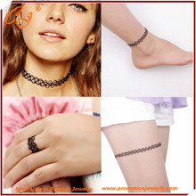 New Vintage Stretch Tattoo Necklace Gothic Punk Grunge Henna Elastic with Pendant Necklaces