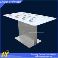 mobile phone charger display stand,mobile phone white display,cell phone display table