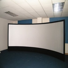 16:10 3D Fixed Screen 300 inch / curved fixes frame projector screen