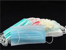 Disposable non woven 3 ply dust mask face mask with ear-loop/tie, PP facemask