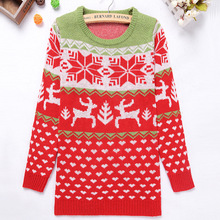 Wholesale Warm Knit Christmas Woolen Sweater New Designs for Ladies