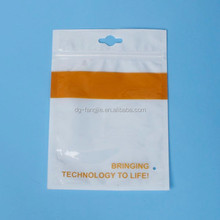 Made in China manufacturer Custom plastic ziplock bag with hanger