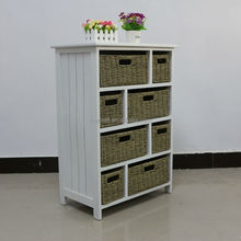 natural seagrass drawer wooden frame storage chest of drawer