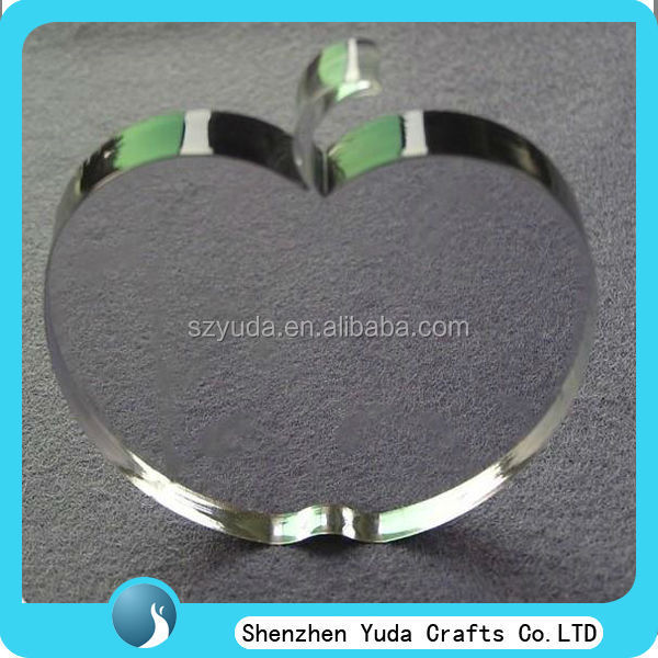 custom crystal like laser cut acrylic apple clear acrylic apple shaped gift cheap wholesale