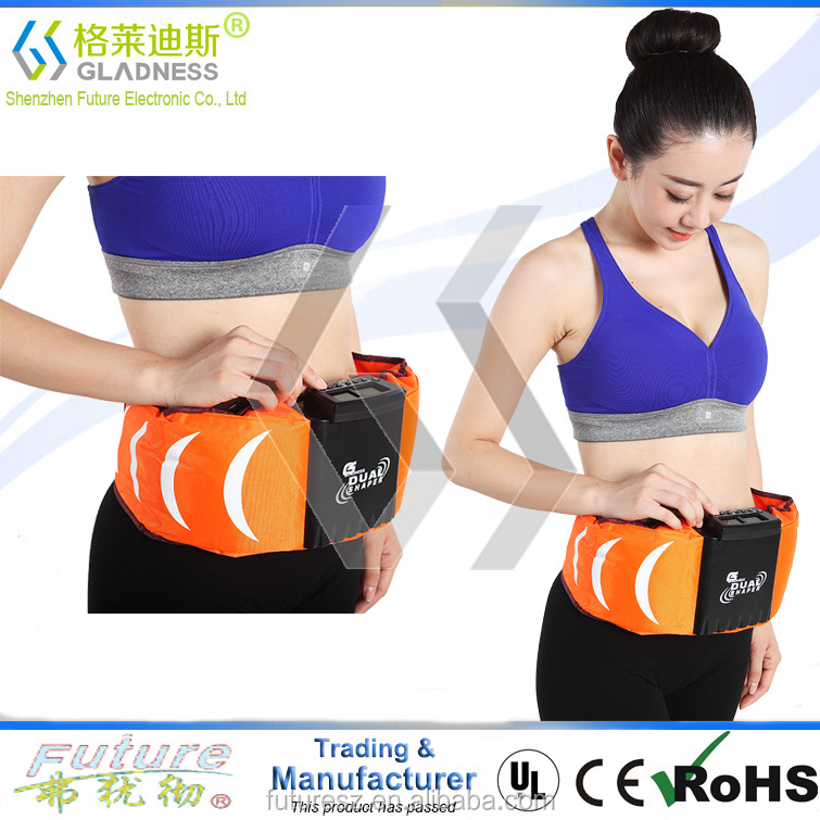 Dual Motor Vibration Electric Weight Loss Belt Heated Belly Slimming Belt Shape Slimming Vibrating Belt