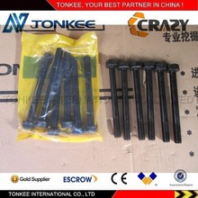 china suppier engine cylinder head bolt S4KT cylinder head bolt S4KT for excavator parts