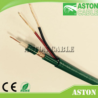 Stranded Copper conductor CCTV/CATV kx6+2c Coaxial Cable