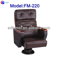 FM-220 Cover leather home theater chairs with wood armrest