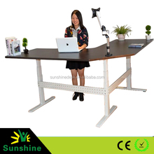 Manual and electric desk for office, automatic lifting metal, computer table models