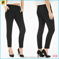China Factory OEM Service Pleated Crepe Lady Office Pants