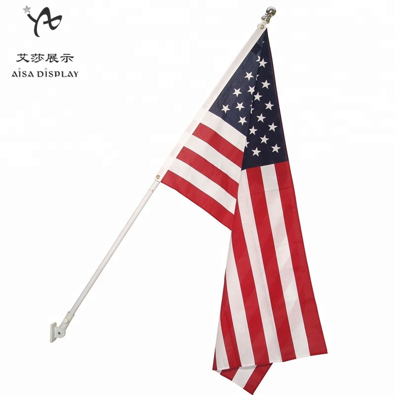 American embroidery states flag,<strong>resistant</strong> Aluminum flagpole wall mounted flagpole base