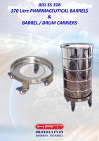 STAINLESS STEEL 18O L & 300 L DRUMS & BARRELS