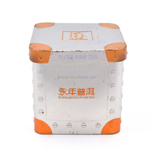 Food grade CMYK printing small square tea tins, tea leaves tin metal can, tea tin container