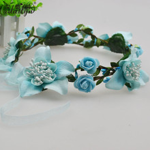 Stock enough Pe material with polygonal flower blue berry wreath