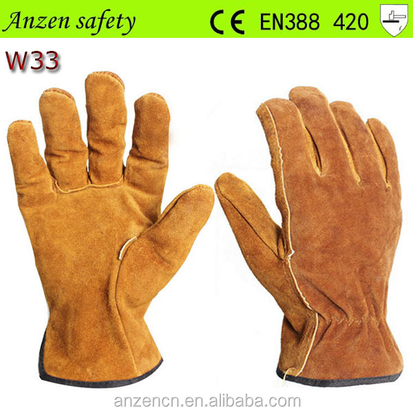 cheap deerskin impact resistant leather work driver glove