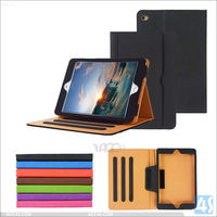 BLACK & TAN STAND SMART MAGNETIC LEATHER CASE COVER FOR NEW APPLE IPAD MINI 4