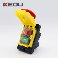 KEDU High Quality Three Phase Waterproof Electromagnetic Push Button Switch With CE,TUV Approved KJD18