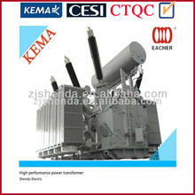 8 MVA 8000 KVA 230 KV oil immersed power transformer from china factory with certificate