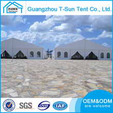 China Made Wide 40 Meters Aluminum Frame Car Rooftop Tent with Block Out White Opaque PVC Covers and Glass Door Units