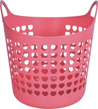 Household Plastic Colorful Laundry Hamper 38L/20L Dirty Clothes Plastic laundry Basket