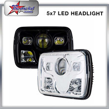 "Dot Approval 4X6 Inch LED Head light 4x6 "" Square Black Color LED HeadLight For Jeep Wrangler Offroad Car Truck Hummer"