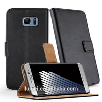 pu leather flip cover for samsung galaxy note 7 case, wallet case for samsung note 7 case