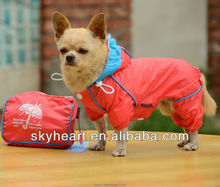 Fashion pet clothes dog raincoat have packing bag