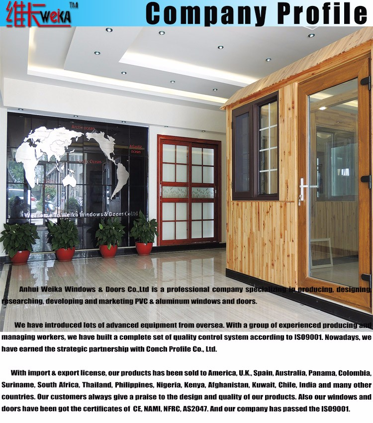 aluminum casement window with double glazing