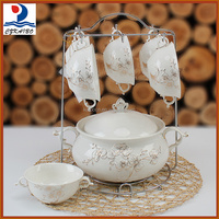 Best price factory wholesale ceramic 7pcs soup set for supper