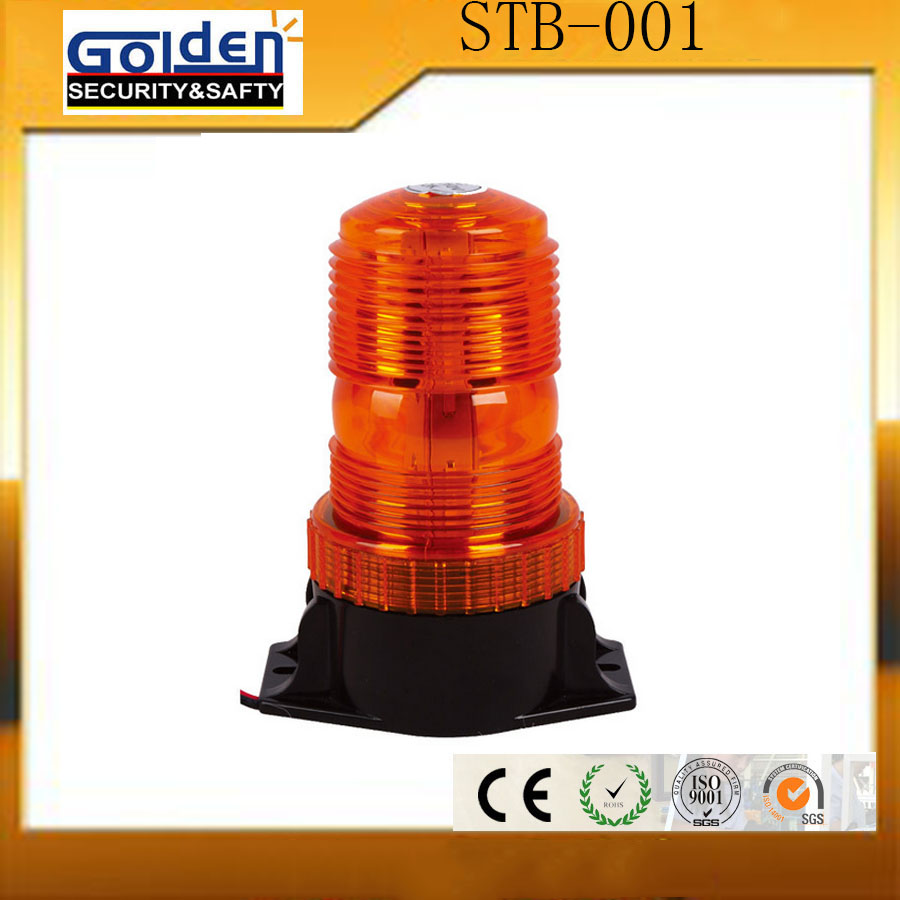 Rotating led emergency vehicle strobe beacon light with strong magnet
