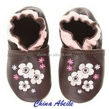 Christmas Gifts azo free baby pu leather soft sole Genuine leather baby girl brown shoes toddler shoes