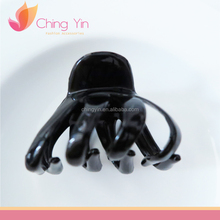 Fashion Hair Accessories Black Small Size Plastic Hair Claw Clips