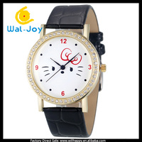 WJ-4956 newest lovely cat face unique fashion quartz charming best gift dress girls watches