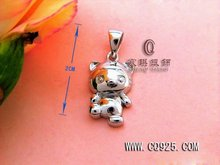 cartoon shape of 925 sterling silver pendant
