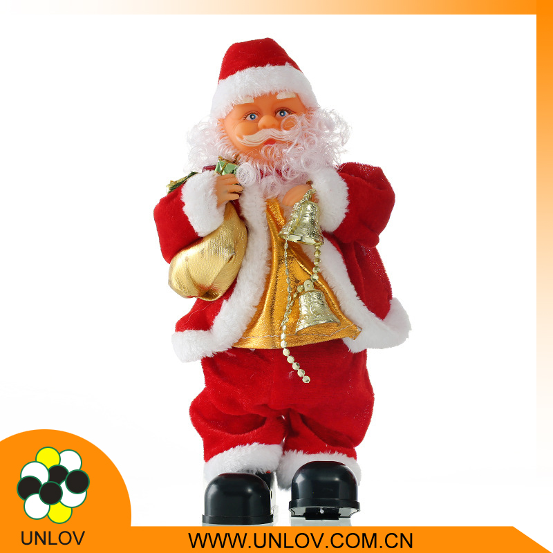 Chinese toy manufacturers wholesale promotion item gift battery Santa Claus