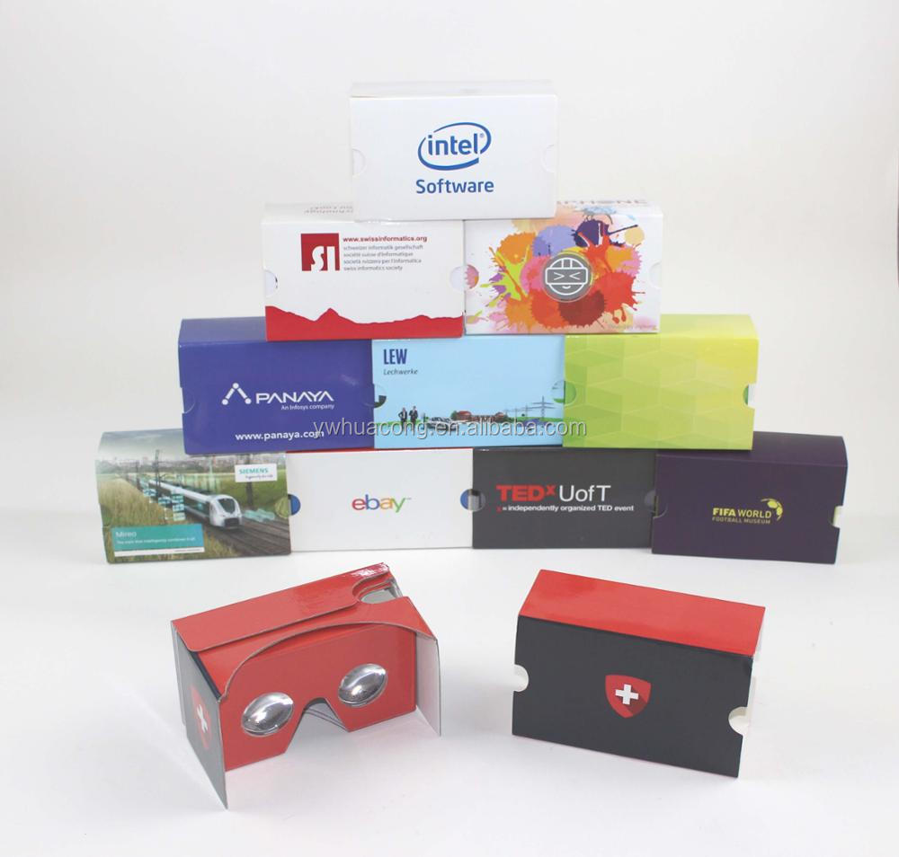 high quality and custom print design cardboard vr glasses for promostion