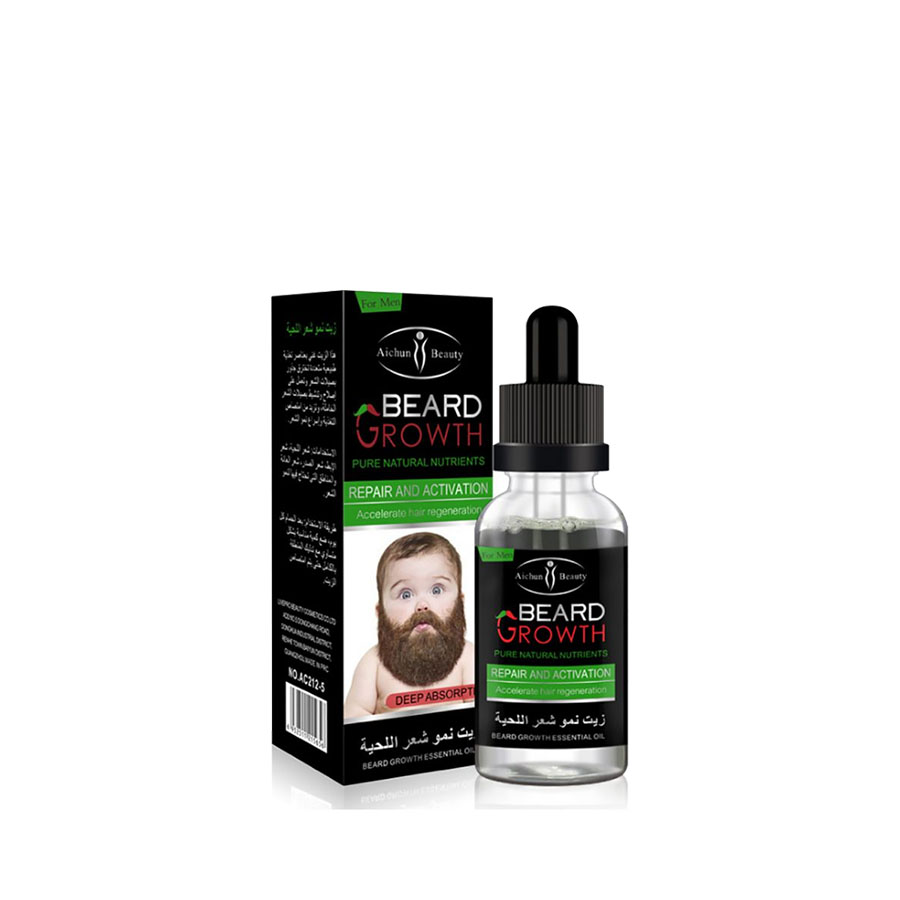Men's beard growth essential <strong>oil</strong> nourishes smooth and supple beard essential <strong>oil</strong>