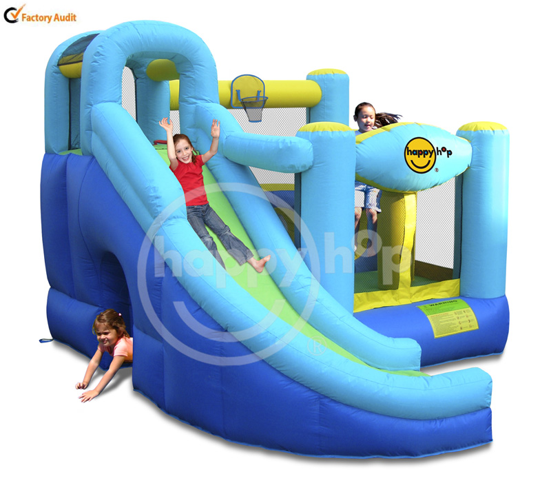 Happyhop Children's Playground Castle Balloon Slide and Bouncer-9074 8 in 1 Play Center Home Use Inflatables