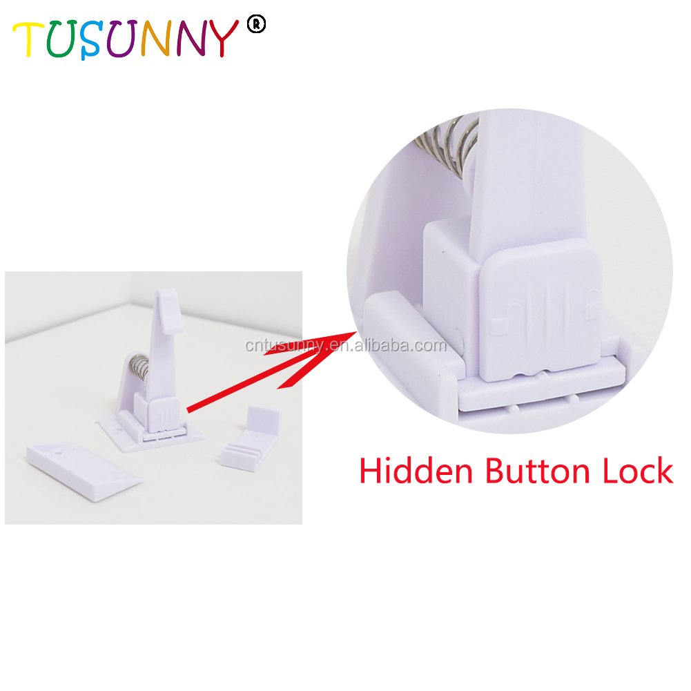 2019 new Amazon Hot Multi-functional Safety Cabinet Lock Baby Drawer Lock for Table Desk Cupboard Sharp