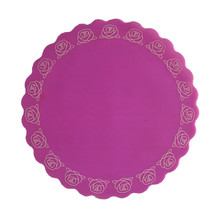 Hot selling FDA & LFGB Silicone embroidery table placemats